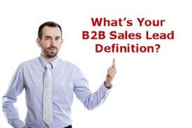 B2B Sales Lead Generation Definition